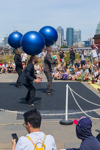 Motosikai, a finnish Circus Show, at Greenwich and Docklands International Festival, 2018