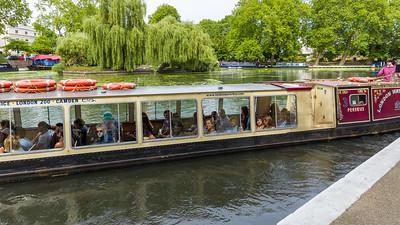 Narrowboats on Paddington Basin, Rembrandt Gardens Little Venice, London