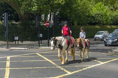 Pony riders in PAddington, London