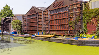 Narrowboats on Paddington Basin, London