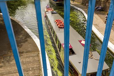 Narrowboats on Paddington Basin, Maida Ave,London