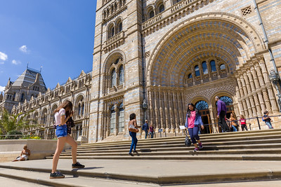 The entrance of the Natural History Museum, London