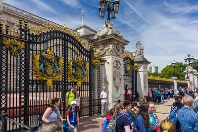 Entrance of Buckingham Palace, London