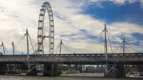 Golden Jubilee Bridges, London Eye, London