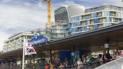 Tower Millenium Pier, Thamse, London