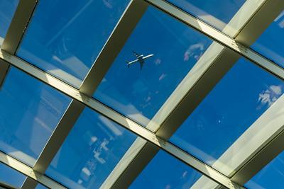 Airplane from Sky Garden of Walkie Talkie, London