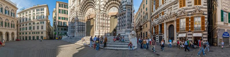 outside San Lorenzo, cathedral, Genua, Genova