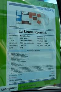 Besichtigung eines La Strada Regent L (Baujahr 2015) bei Lexa in Langenthal am 28. Mai 2016