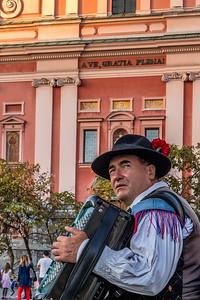 Spaziergang in Ljubliana: Slavko Avsenik und seine Oberkrainer haben viele Erben