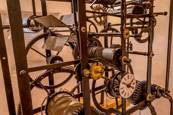 Spaziergang in Piran: Die alte Uhr im Glockenturm die längst durch Elektronik ersetzt wurde