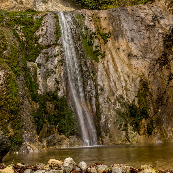 Der untere Teil des Wasserfalls «Slap Sopota»