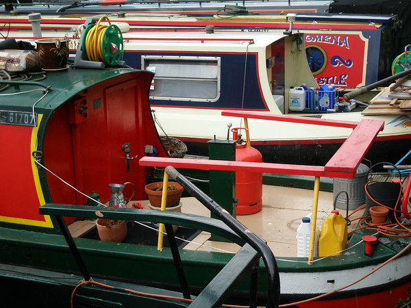 Kanalbåter i Regent's Canal (Foto: Ståle)