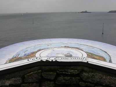 Utsiktpunkt over emeraldkysten ved Dinard (Foto: Ståle)