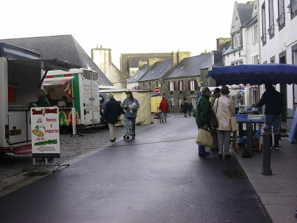Marked i Le Conquet sentrum (Foto: Ståle)