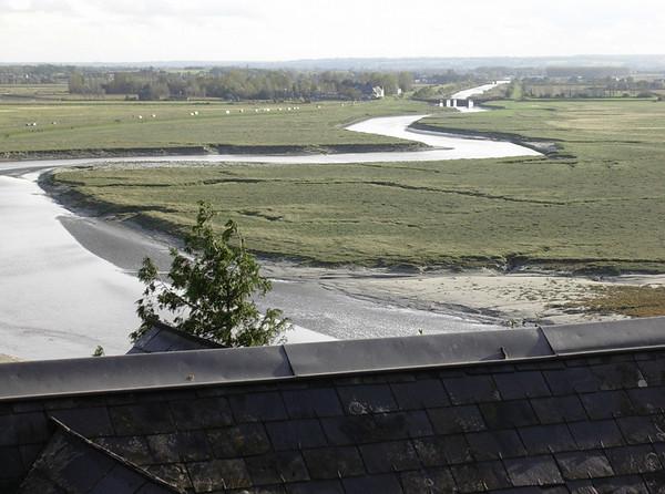 Lavvann mot Le Couesnon-elva (Foto: Ståle)