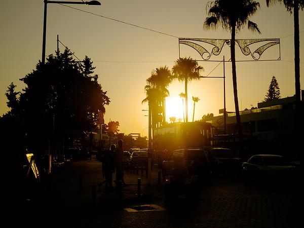 Sunset on Sunny Street