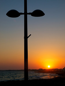 Lamp post along the promenade