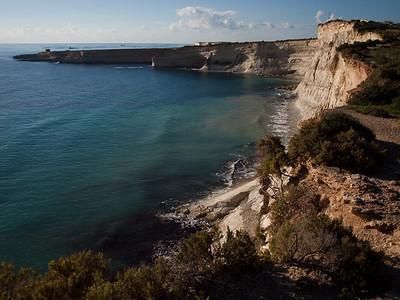 Maltas søndre sandsteinsklipper (Foto: Ståle)