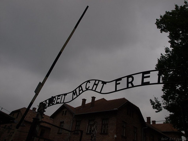 "Just one version of one of the most iconic signs in our history. Death was the only ""freiheit"" most people entering the gates of Auswitcz would see. (Foto: Geir)"