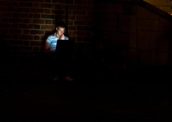 Lys i mørket (Foto: Ståle)