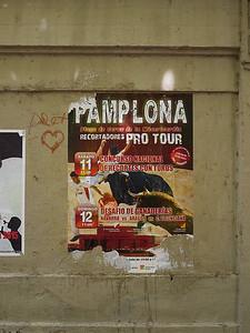Pamplona - ferminofestivalens hjemby. Ingen tvil om hva turistnæringen satser på.