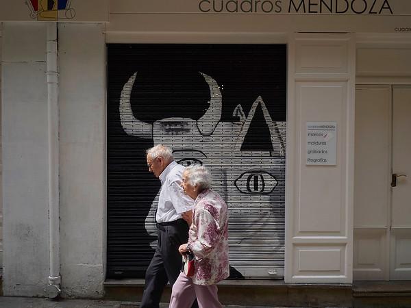 I en gate i Pamplona.