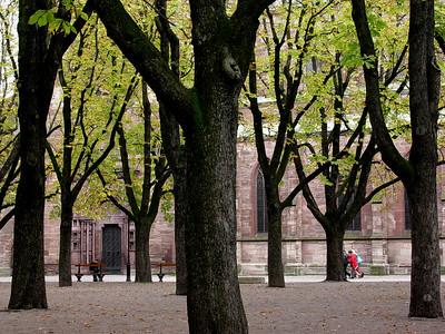 I parken ved Basels katedral (Foto: Ståle)