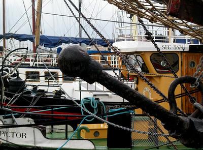 Båter ankret i Östra Brobänken marina (Foto: Ståle)