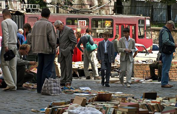 Bokmarked i Lviv (Foto: Ståle)