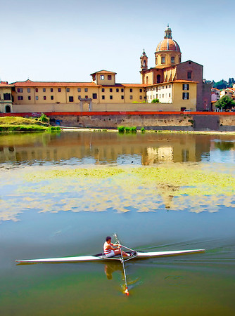 Rowing on The Arno- (Item-4784)