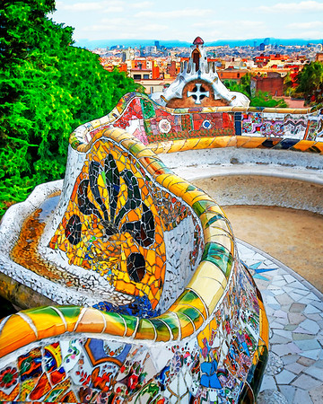 Benches-Park Guell- (Item-5829)