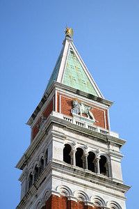 Campanile (1902)  The angel on top always faces into the wind.