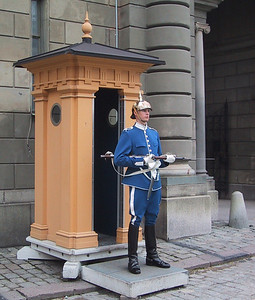 Stoic guardsman in Stockholm.