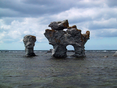Gamlahamn Rock in Faro, Sweden