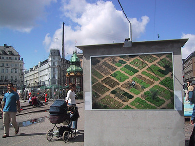 """Earth from the Air"" exhibit, downtown Copenhagen."
