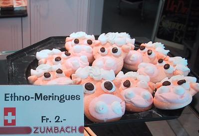 Cow meringue pastries, Luzern bakery