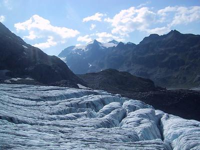 Ice glacier we climed in Steine Gletscher, Switzerland.