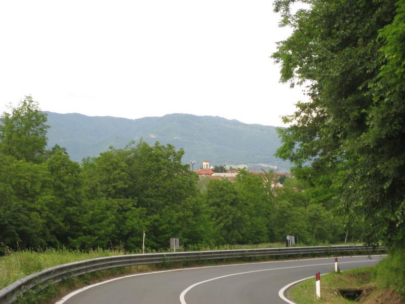 The road into Vicchio