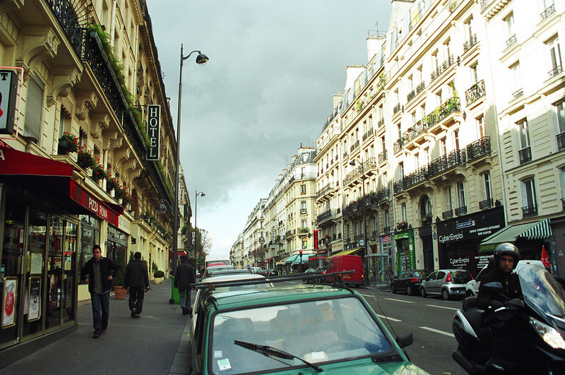 Paris street in the Latin Quarter.
