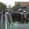 Just so happened that as we came out of the Starbucks a little boat was going through the lock. Let's watch, shall we?