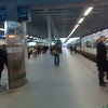 The Eurostar train is so fast, even the platform is too fast for film.
