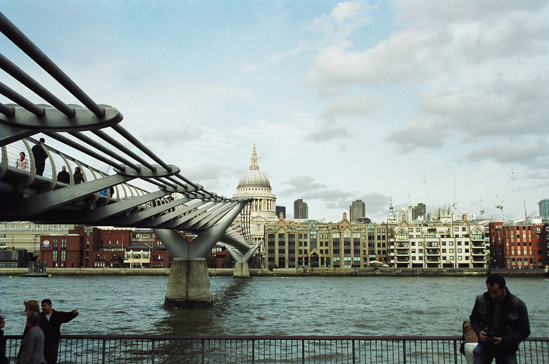 and the other side of the Millennium Bridge.