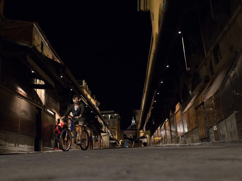 Florence. Midnight on the Ponte Vecchio bridge.7