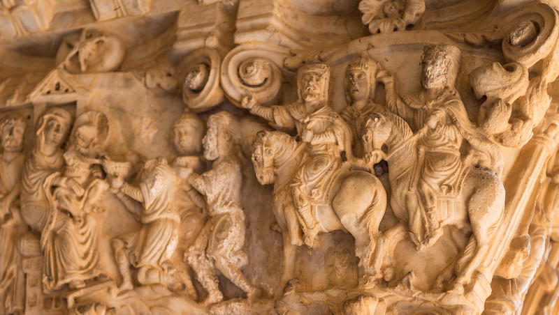 Palermo. Monreale. Capital detail. The cloisters