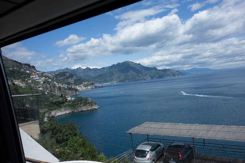 Amalfi Coast. Taken through bus window.