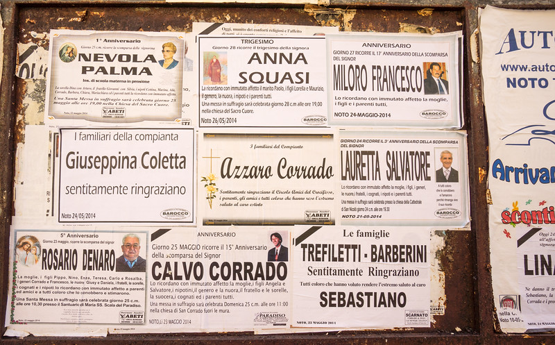 Memorial notices. Palermo