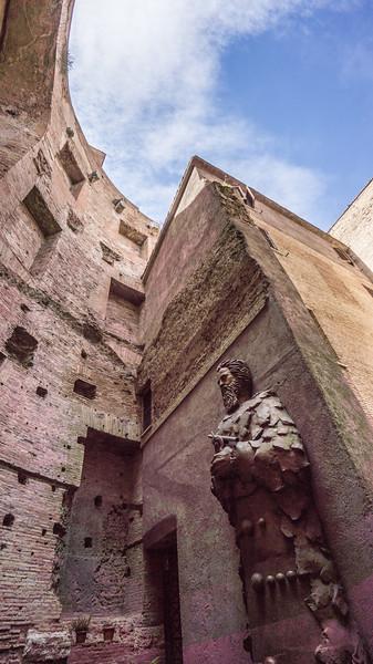 Santa Maria degli Angeli e dei Martiri. A church that acknowledges science and Galileo in particular. Michelangelo's last great building.