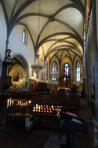 Salers church interior