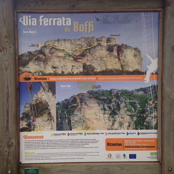 There is also an impressive looking maze of via ferrata here!