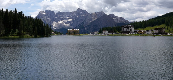 Back in Misurina after a long semi hike/shuffle